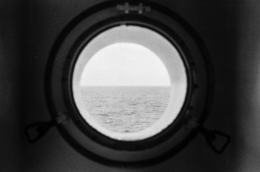 The view from my porthole on one of the lower decks.